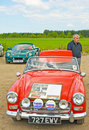 Austin Healey Sprite at Rally in Inverness. Stock Photo