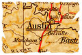 Austin old map Royalty Free Stock Photo