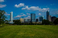 Austin texas park on bright spring time day in central texas Royalty Free Stock Photo
