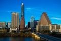 Austin texas skyline cityscape blue sky Royalty Free Stock Photo