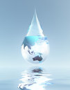 Australasia and Asia droplet Royalty Free Stock Photo