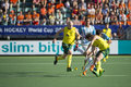Australia argentina semi finals the hague netherlands june beats agentina in the of the world championships hockey cirello and Stock Image