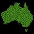 Australia binary map Royalty Free Stock Image