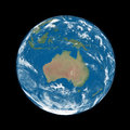 Australia on blue earth planet isolated black background elements of this image furnished by nasa Royalty Free Stock Photos