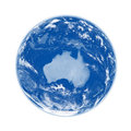 Australia on blue earth planet isolated white background elements of this image furnished by nasa Royalty Free Stock Images