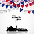 Australia Day. National Flags and Skyline Royalty Free Stock Photo