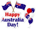 Australia Day stickers. Royalty Free Stock Images