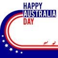 Australia day themed graphic design