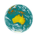 Australia on earth planet isolated white background elements of this image furnished by nasa Royalty Free Stock Images