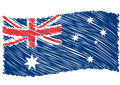 Australia flag art Stock Images