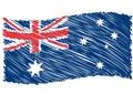 Australia flag art