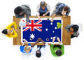 Australia flag country nationality liberty concept Royalty Free Stock Photos