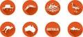 Australia Flat Icon Set Royalty Free Stock Photo