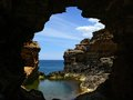 Australia great ocean road grotto Stock Image