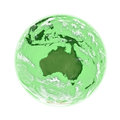 Australia on green earth planet isolated white background elements of this image furnished by nasa Royalty Free Stock Image
