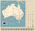 Australia - Highly detailed editable road map