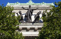 Australia house facade in london the quadriga statue on the exterior of on the strand Royalty Free Stock Image