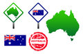 Australia icons set Stock Image