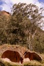 Australia industrial ruins coke ovens historic ruined brick newnes new south wales Royalty Free Stock Image