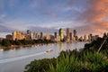 Australia Landscape : Brisbane city riverside skyline Royalty Free Stock Photo