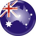 Australia map and flag Royalty Free Stock Photos
