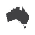 Australia map silhouette illustration