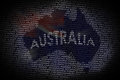 Australia map from text Royalty Free Stock Photography