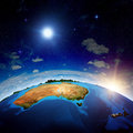 Australia and new zeland elements of this image furnished by nasa Royalty Free Stock Photos