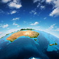 Australia and new zeland elements of this image furnished by nasa Royalty Free Stock Photography