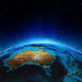 Australia and new zeland elements of this image furnished by nasa Stock Photography