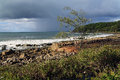 Australia noosa coastline coastal scenery before the rain Stock Images