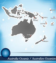 Australia oceania with abstract background Stock Photos