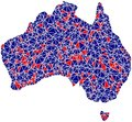 Australia outline mosaic tiles Royalty Free Stock Images