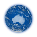 Australia on planet earth blue isolated white background highly detailed surface elements of this image furnished by Stock Photos
