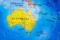 Australia puzzle of the continent including new zealand and tasmania Stock Photography