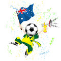 Australia Soccer Fan Royalty Free Stock Image