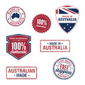 Australia stamps and badges a variety of for Royalty Free Stock Images