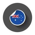 Australia sticker with flag.