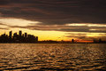Australia Sydney Skyline Sunset Royalty Free Stock Photo