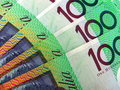 Australian 100 dollar notes Royalty Free Stock Photography