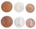 Australian 1963 Penny, Half Penny and Florin Stock Photography