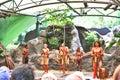 Australian Aboriginals performing Royalty Free Stock Photo