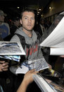 Australian Avatar actor Sam Worthington at LAX Royalty Free Stock Image