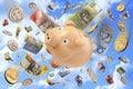 Australian Budget Superannuation Money Royalty Free Stock Photo
