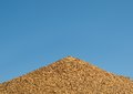 Australian bull ant nest against blue sky Stock Image