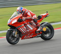 Australian Casey Stoner of Ducati Marlboro at 2007 Stock Photo