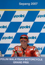 Australian Casey Stoner of Ducati Marlboro winner Royalty Free Stock Images