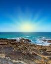 Australian coast ocean and sun Royalty Free Stock Image