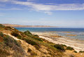 Australian coastal landscape unspoilt coastline of the fleurieu peninsula south australia Royalty Free Stock Photo