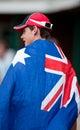 Australian cricket fan Royalty Free Stock Photo